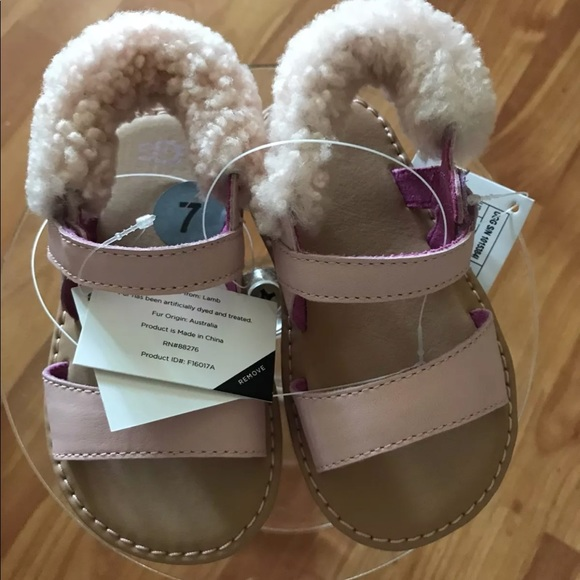 989818a4c8c UGG Girls I Dorien Sandal, pink 6/7 US Infant NEW NWT